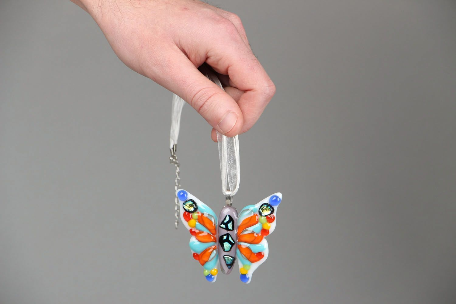 Handmade pendant Butterfly photo 4