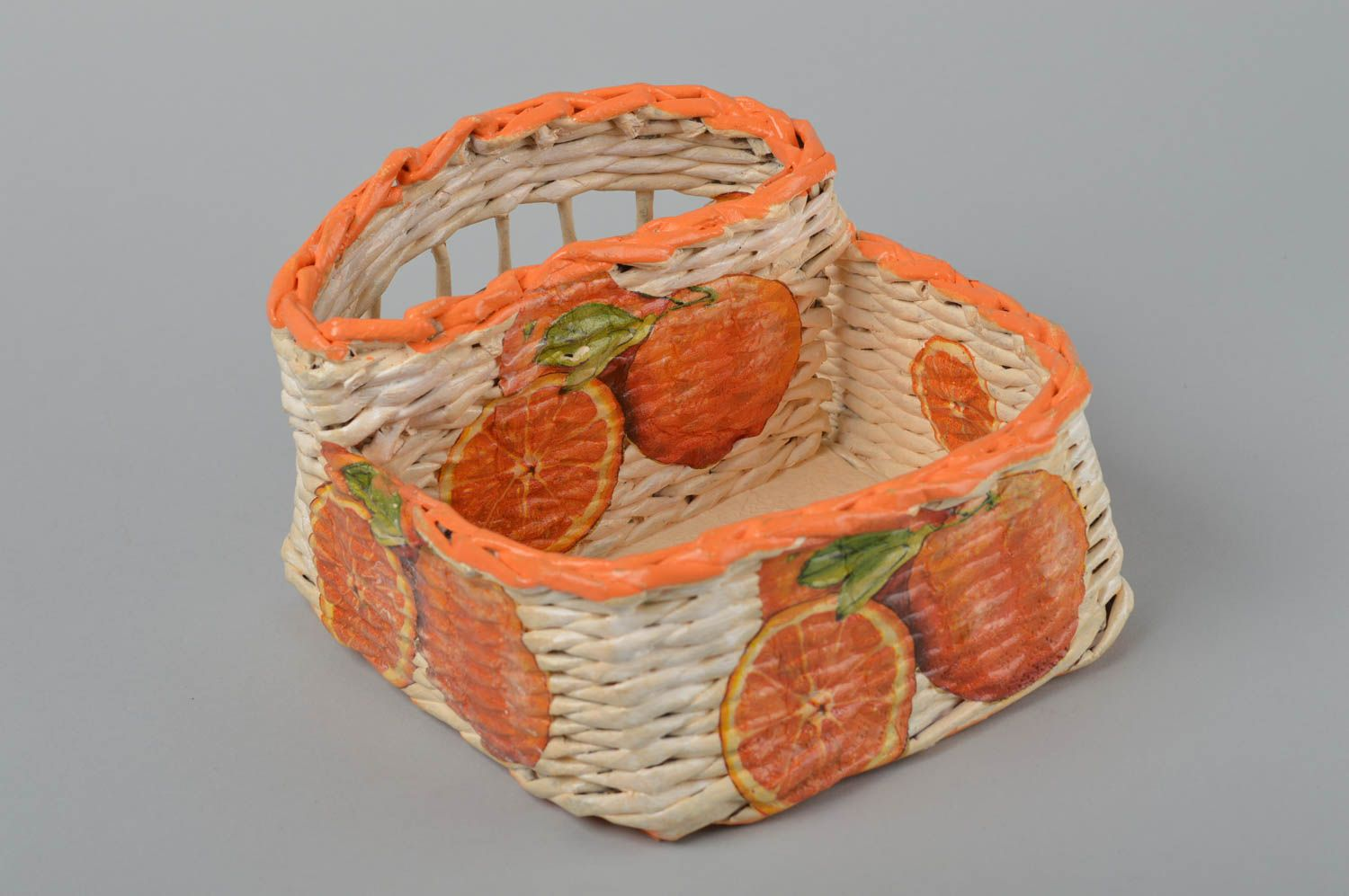 Kitchen Utensils Beautiful Handmade Paper Basket Newspaper Craft Room Decor Ideas Home Goods