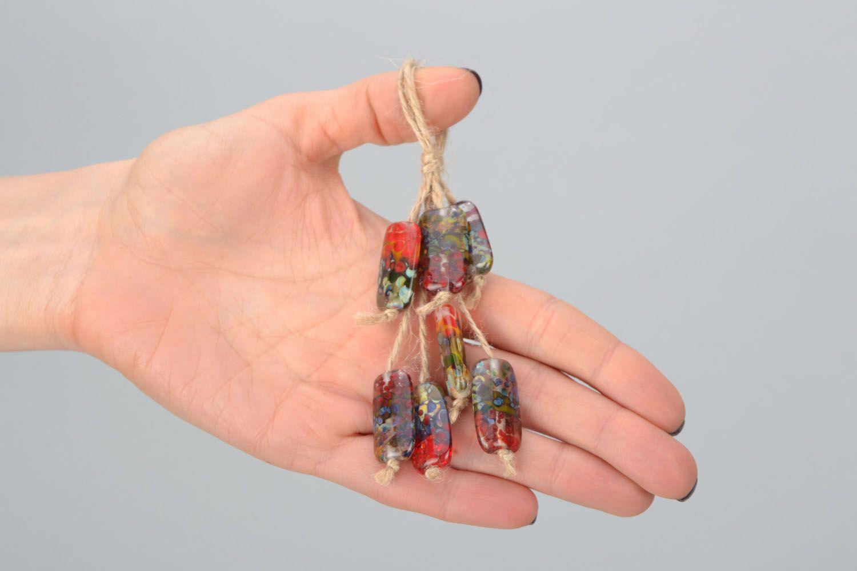 Set of glass beads photo 3