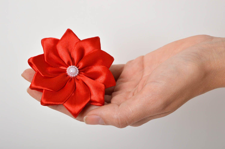 Handmade flower hair tie hair scrunchie flowers for hair gifts for girls photo 5