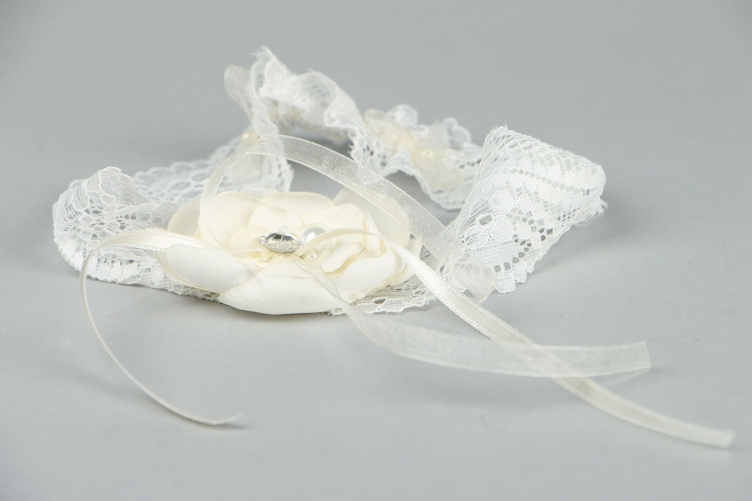 clothes Handmade garter for bride  - MADEheart.com
