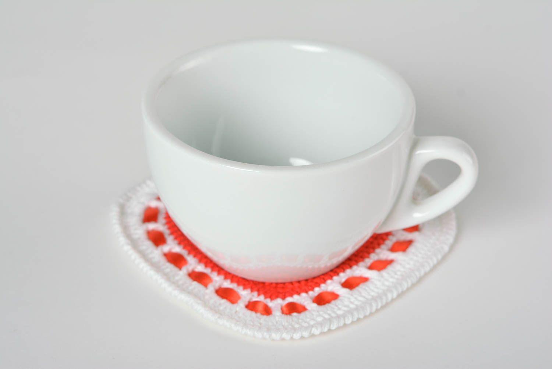 Madeheart > dessous de verre au crochet déco cuisine coton coeur ...
