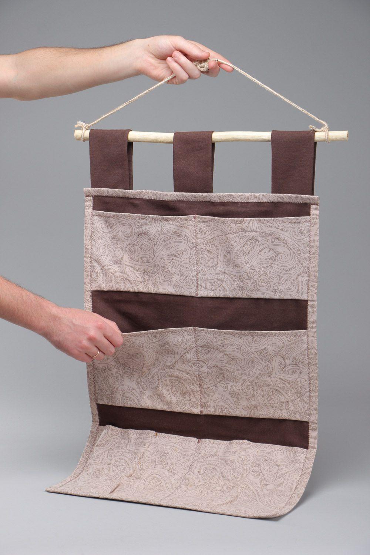 madeheart heller handgemachter wand organizer aus stoff f r aufbewahrung von kleinigkeiten. Black Bedroom Furniture Sets. Home Design Ideas