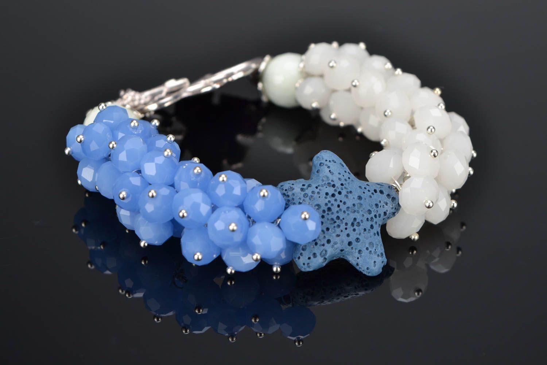 Natural stone wrist bracelet photo 1
