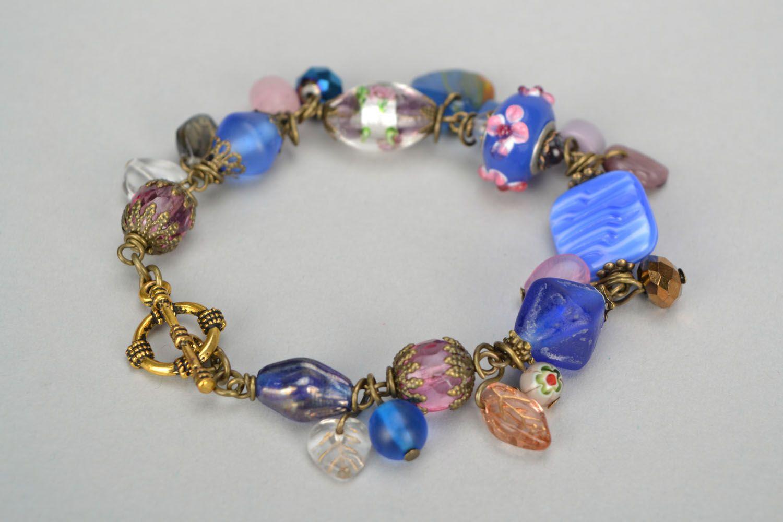 Metal and Czech glass bracelet photo 6