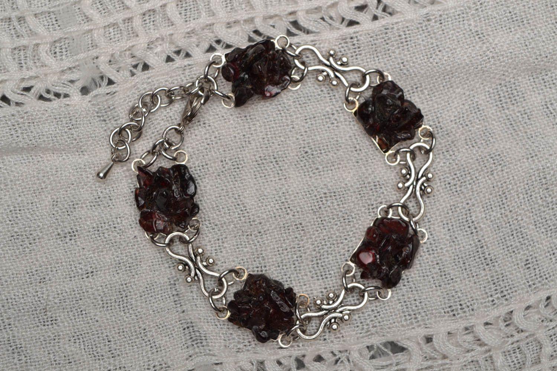 Bracelet with garnet photo 1