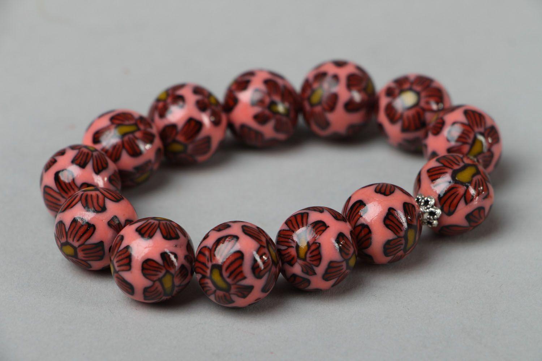 Polymer clay bracelet Pink Dream photo 1