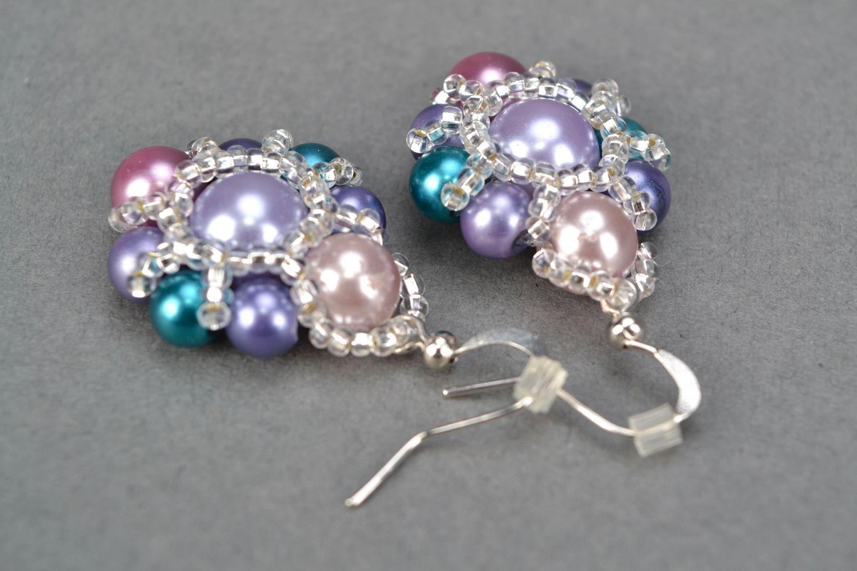 Beaded earrings Violet photo 4