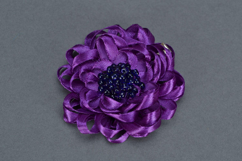 Violet hair clip photo 3