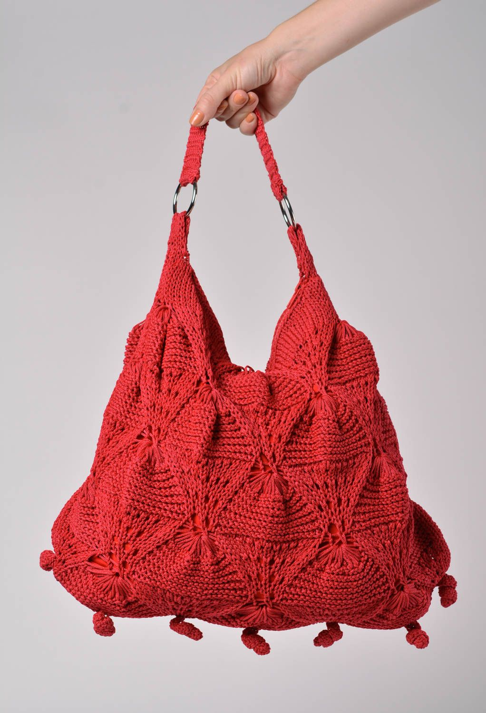 Вязание женских сумок спицами