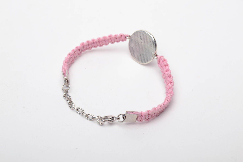 Pink woven bracelet photo 4