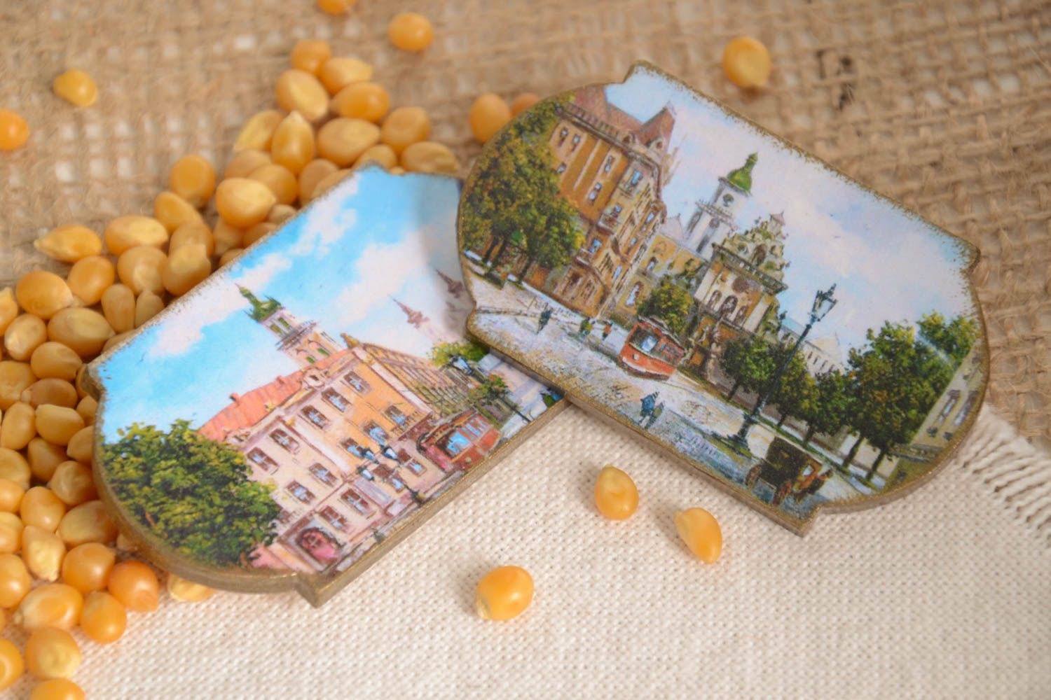 Handmade fridge magnet 2 pieces home decoration small gifts decorative use only photo 1