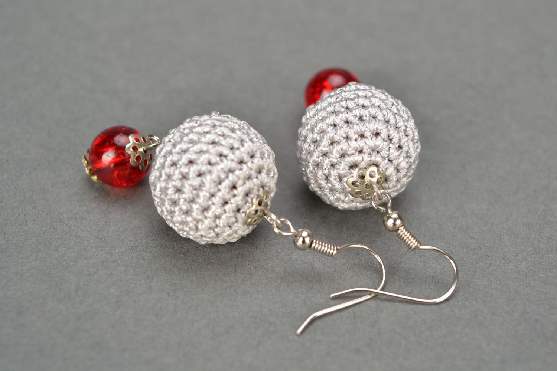 Crocheted earrings photo 5