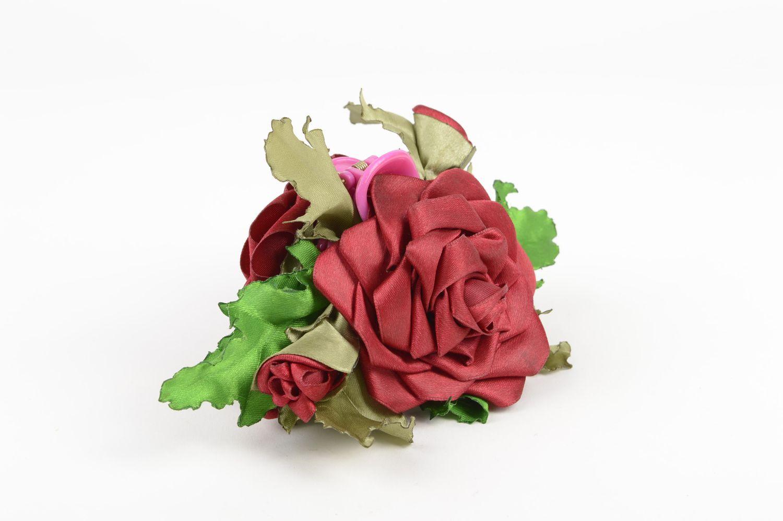 Handmade designer accessory elegant flower hair clip feminine cute hair clip photo 1