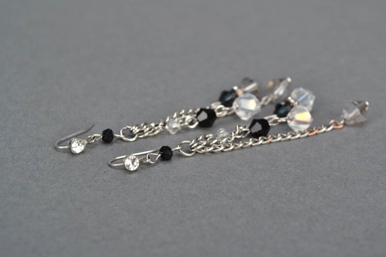 Long beaded earrings photo 4