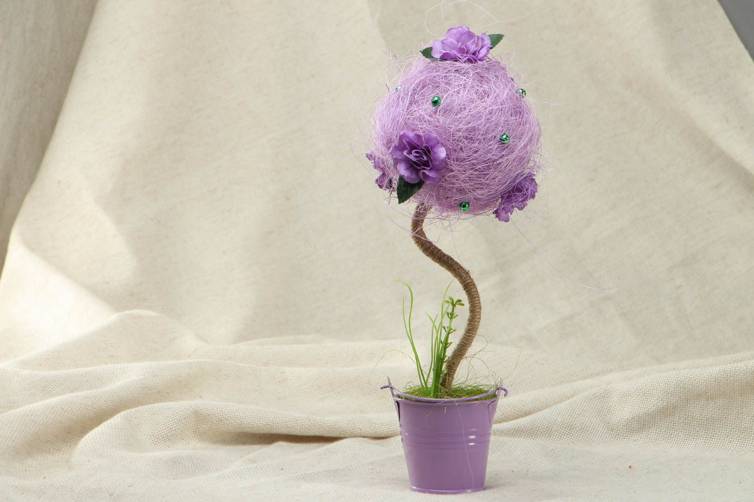 Handmade tree of happiness of lilac color photo 1