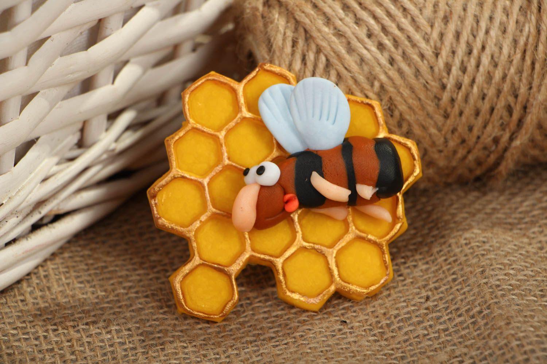 Decorative fridge magnet Bee photo 5