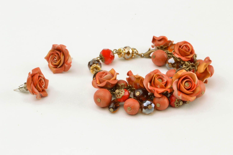 Set of polymer clay jewelry photo 2
