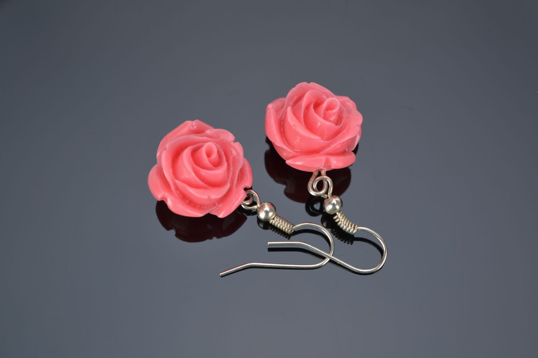 Dangling earrings Roses photo 1