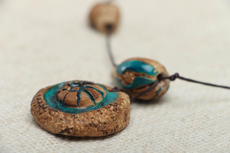 Ceramic amulet pendant photo 3