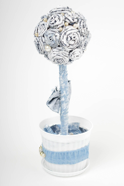 White handmade topiary tree designer jeans tree decorative use only nice present photo 4