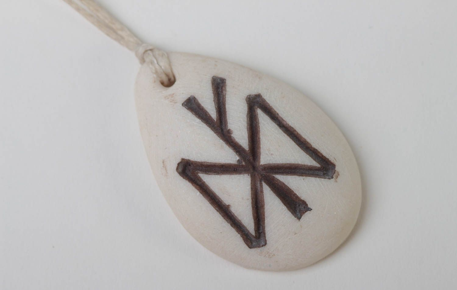 next-to-skin amulets Handmade rune pendant accessory with runes polymer resin jewelry for women - MADEheart.com