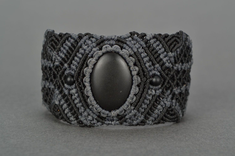 Woven bracelet with shungite photo 4