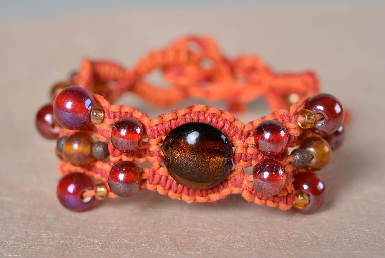 bracelets textiles Bracelet macramé Bijou fait main tressé macramé design  original Cadeau femme , MADEheart.