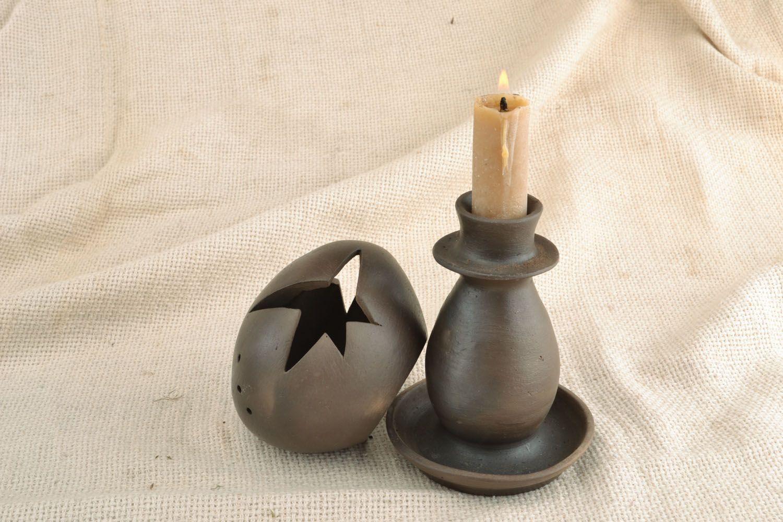 chandeliers Support de bougie céramique fait main  - MADEheart.com