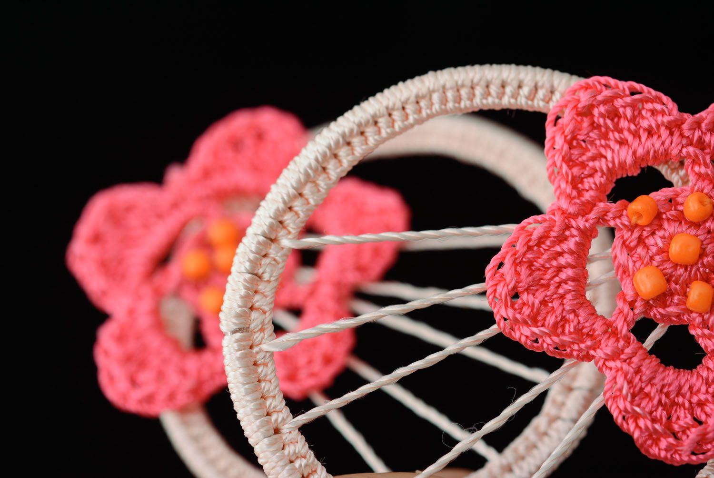 Crochet earrings With Flower photo 2