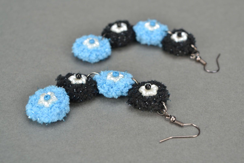 Handmade crocheted earrings photo 1