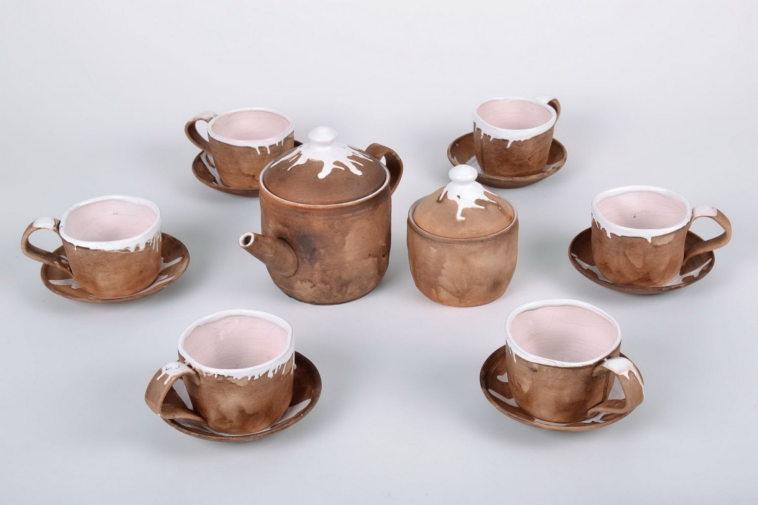 cups,glass Handmade tea-set - MADEheart.com