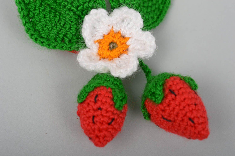 Sets Unusual handmade crochet scrunchie hair tie flowers in hair accessories for girl - MADEheart.com