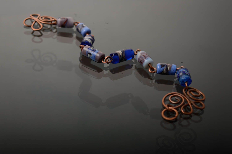 Schönes Armband aus Glas in Lampwork Technik foto 5
