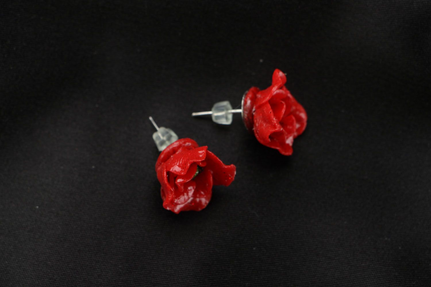 Polymer clay earrings Poppies photo 2