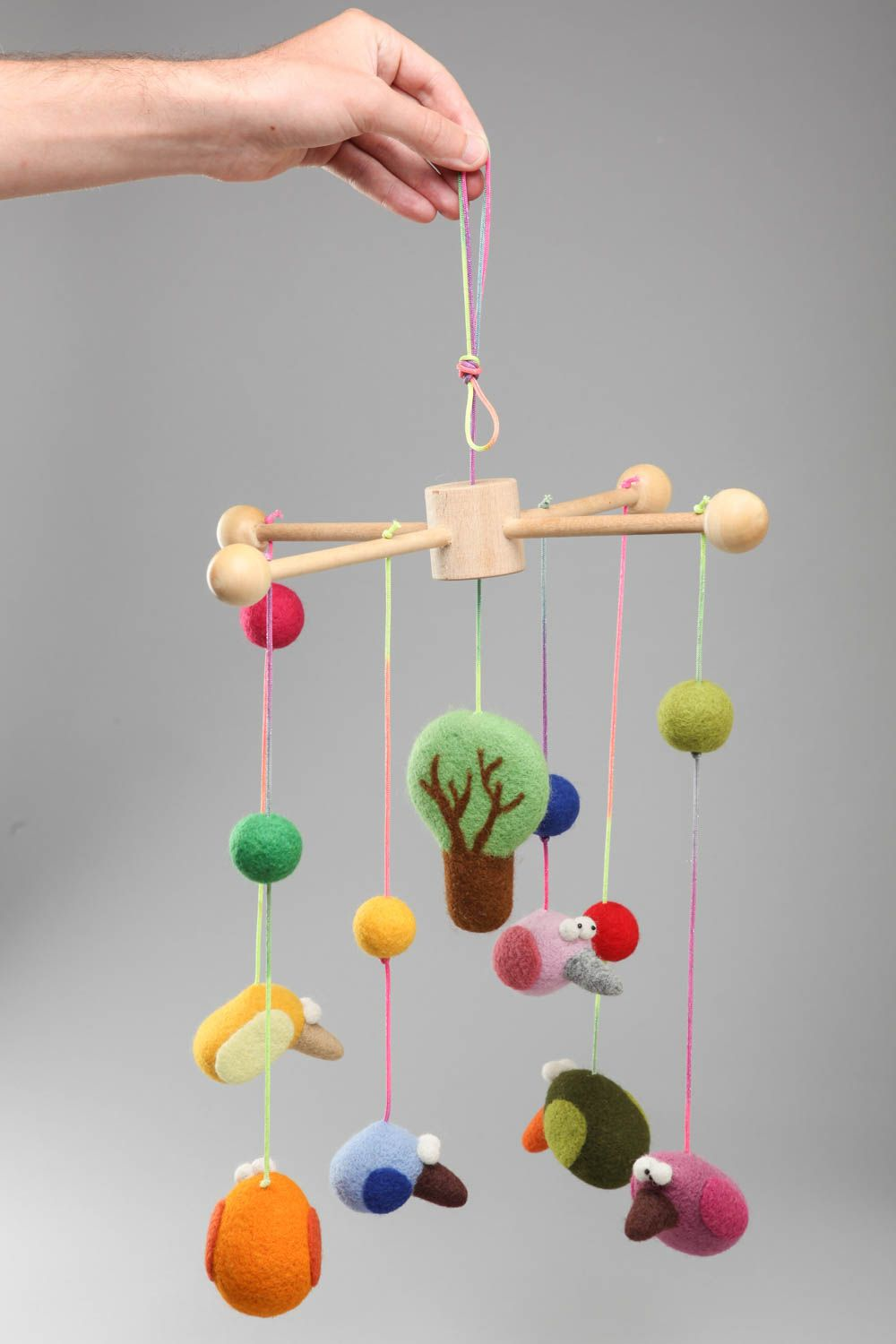 Crib activity toys for babies - Crib Toys For Babies That Hang For Newborns Handmade Designer Hanging Crib Toys Felted Of