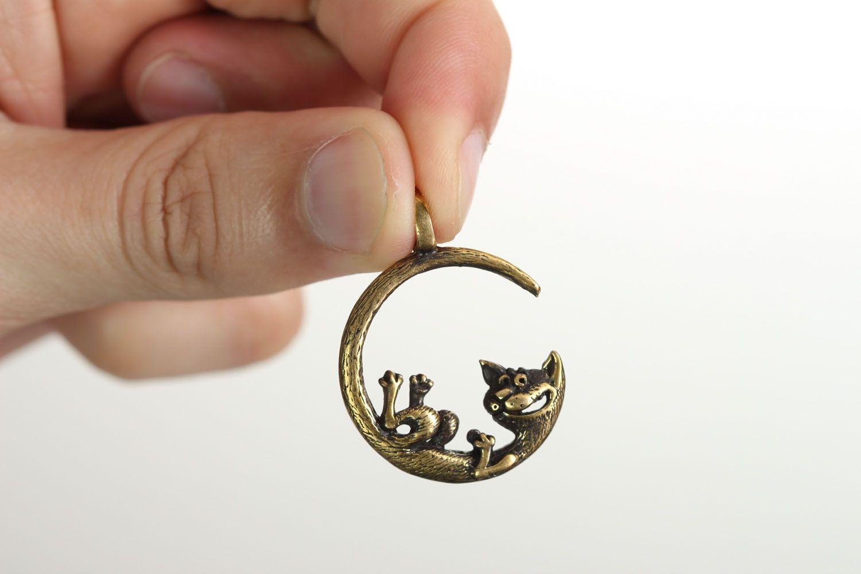 Bronze pendant Moon Cat photo 4