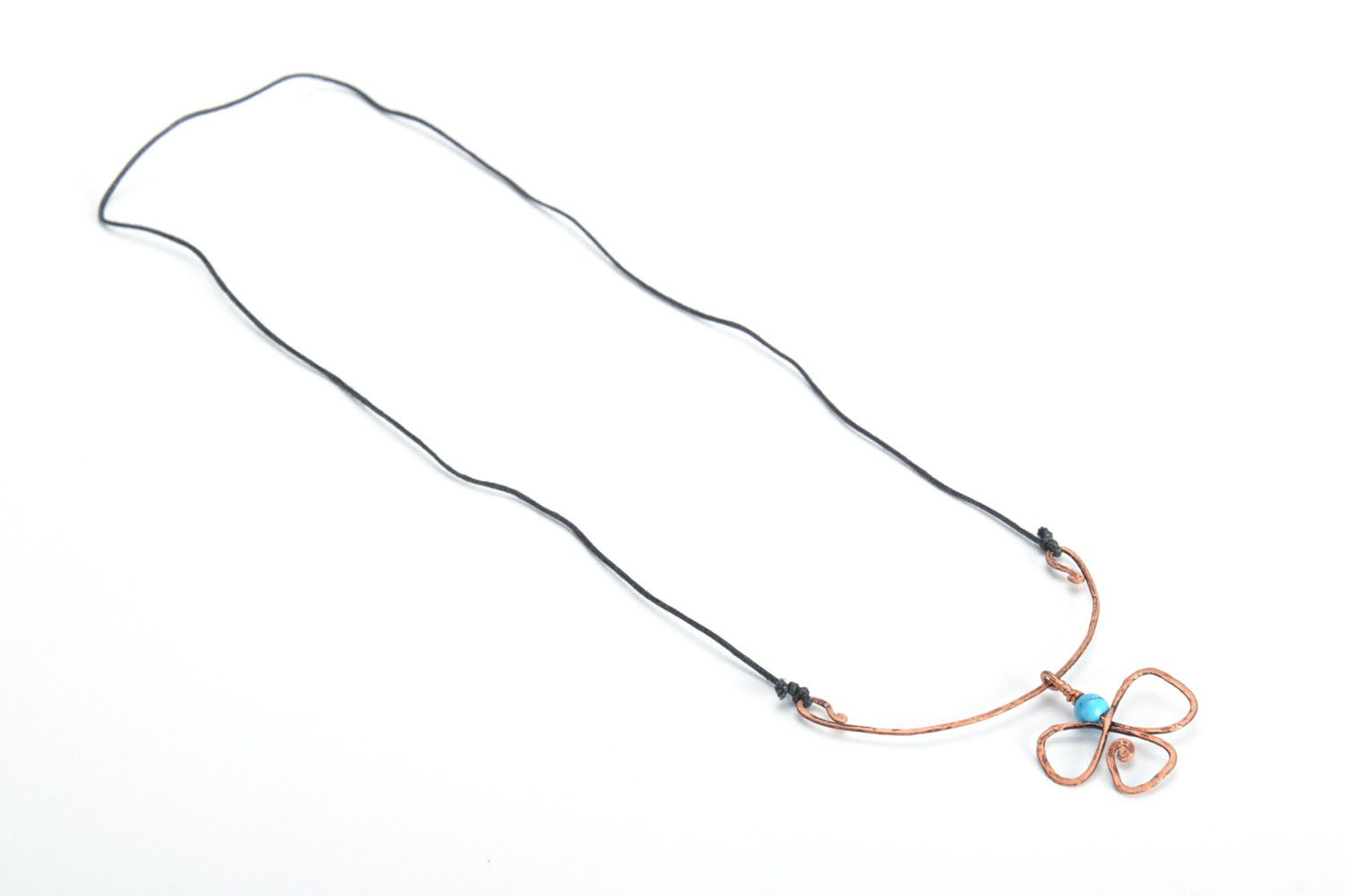 Copper pendant with turquoise photo 3