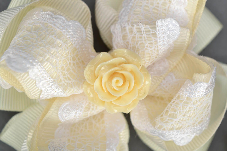 Hair clip set Creamy Rose photo 4
