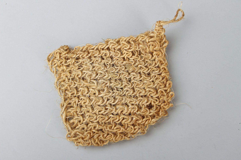 Sisal crochet body scrubber  photo 1
