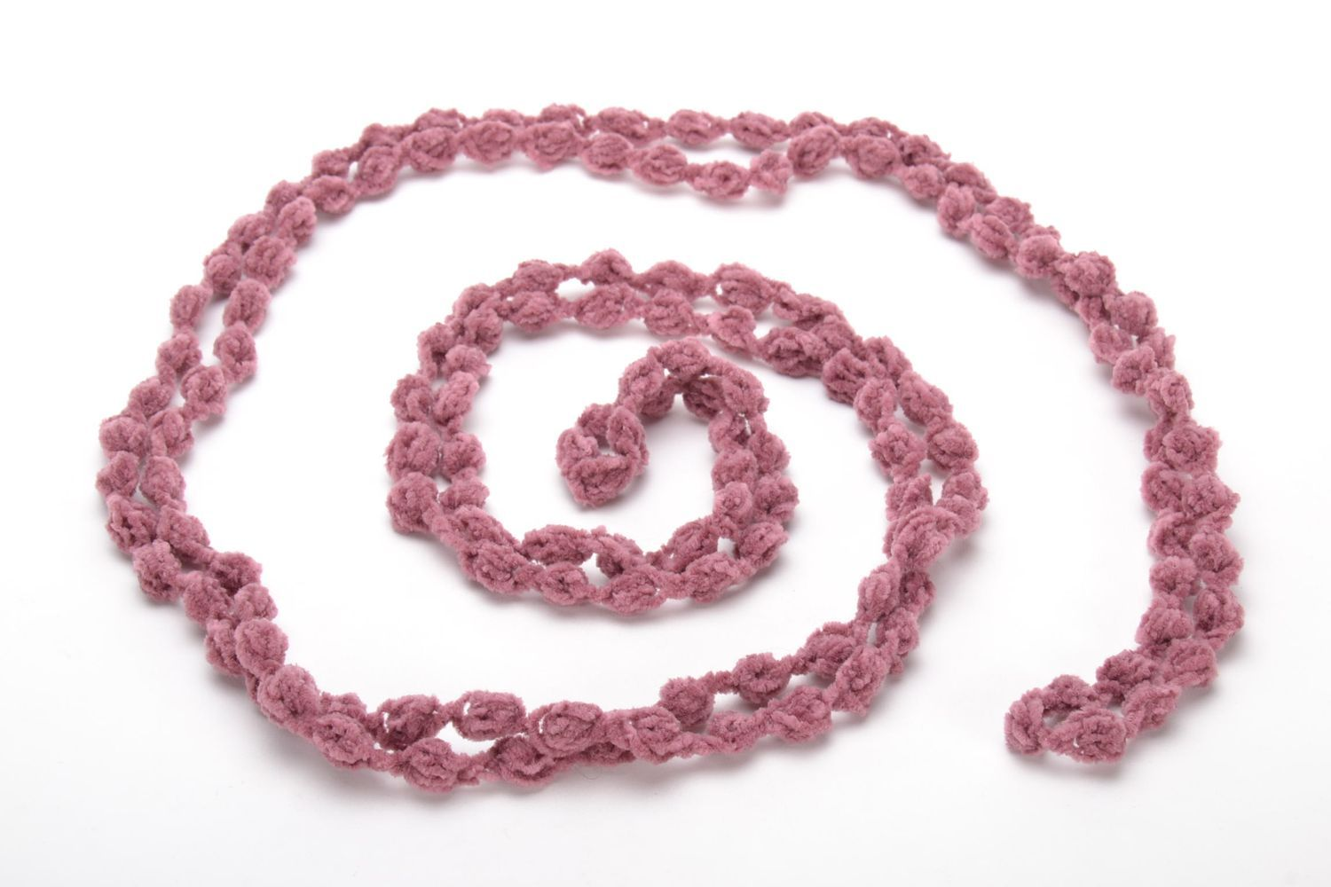 Crochet multi-row necklace photo 4