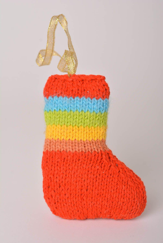 madeheart chaussette no l d co fait main id e d co no l tricot acrylique crochet. Black Bedroom Furniture Sets. Home Design Ideas