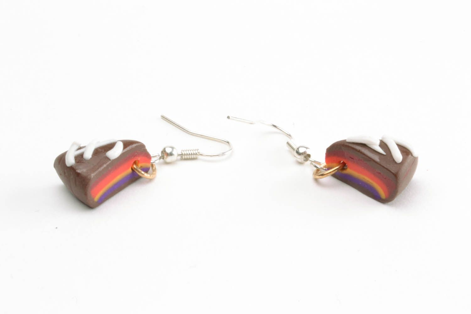 Polymer clay earrings in the shape of cakes photo 4