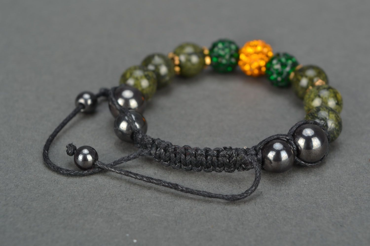 Handmade bracelet with coil stone photo 4