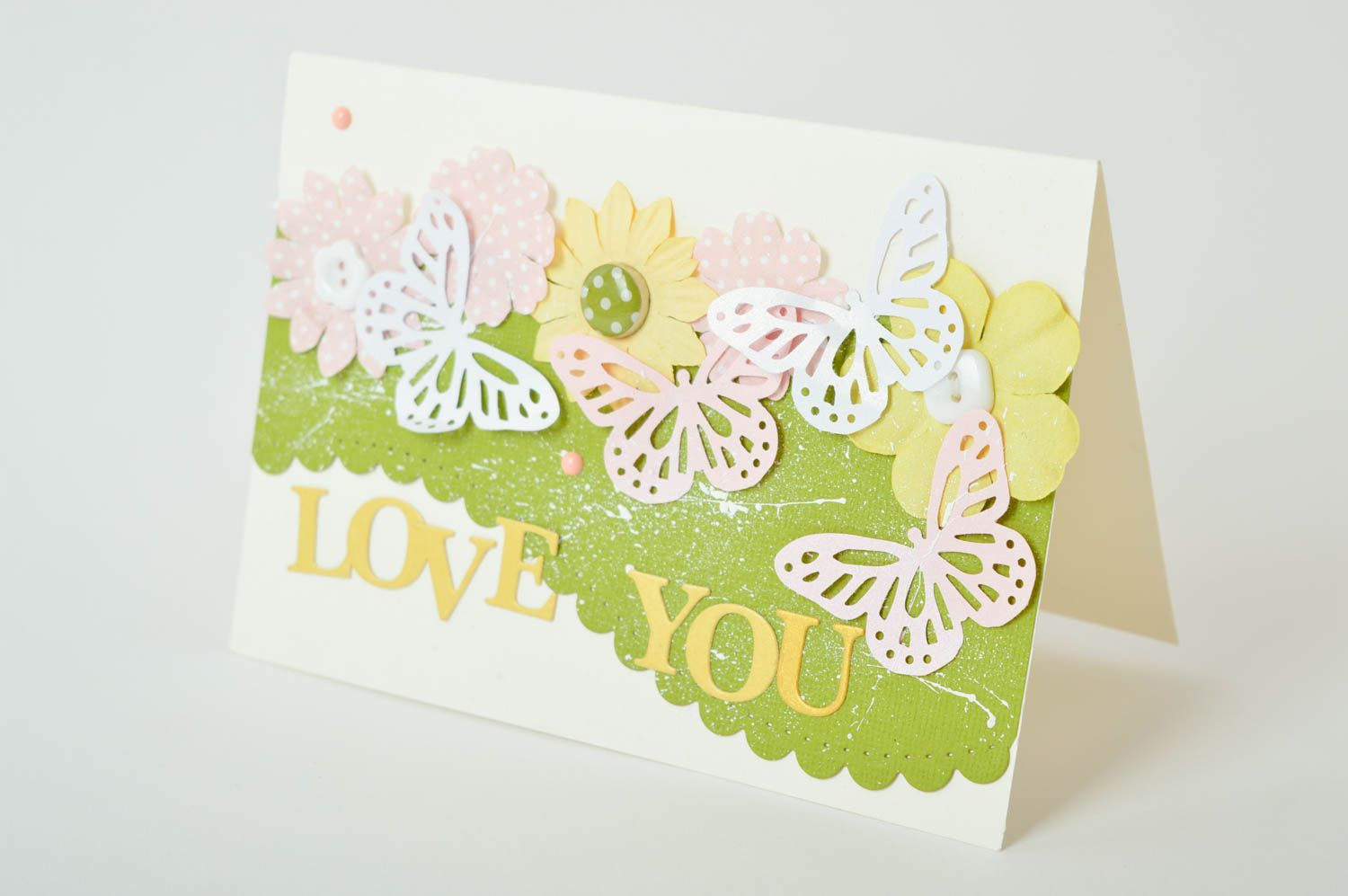 Homemade postcard greeting card love you card souvenir ideas cool gifts photo 2