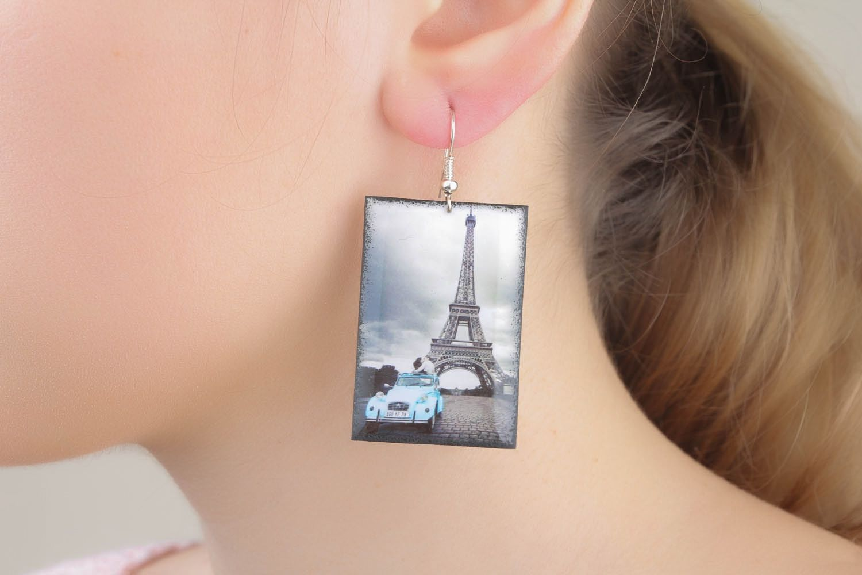 Photo earrings Eiffel Tower photo 1