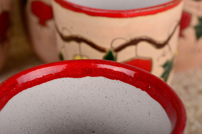 Ensemble de verres fait main Verres à eau Vaisselle design belle originale photo 3