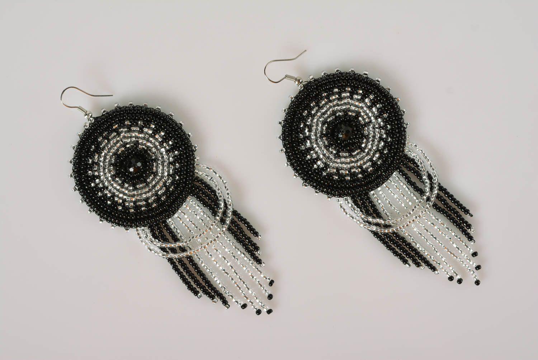 Pendientes de abalorios hechos a mano para mujer bisutería fina regalo original foto 3