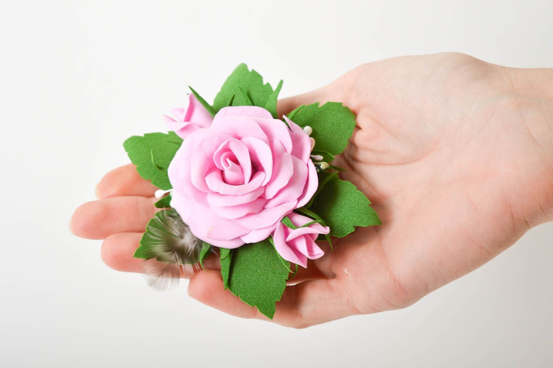Kopfschmuck Blume handgefertigt Damen Modeschmuck effektvoll Haarspange Blume foto 8