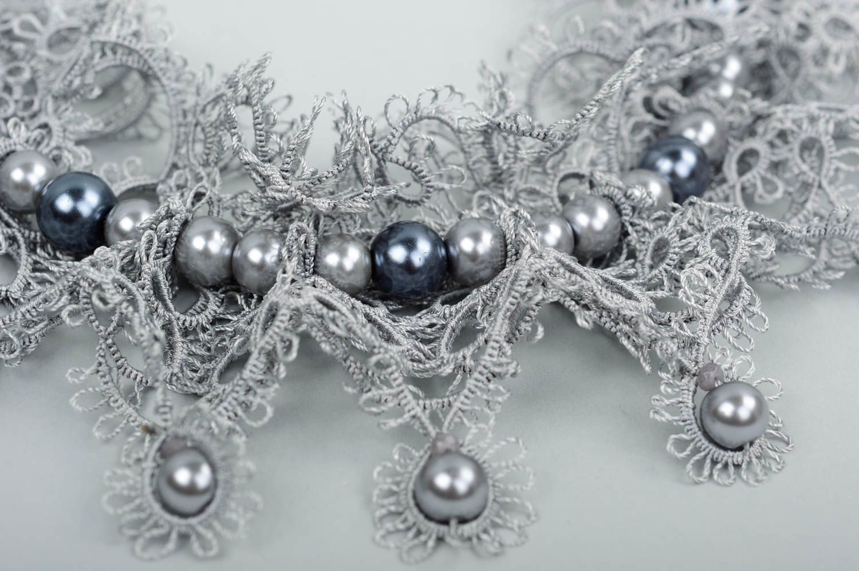 Handmade woven lace earrings woven earrings designer accessories for girls photo 2